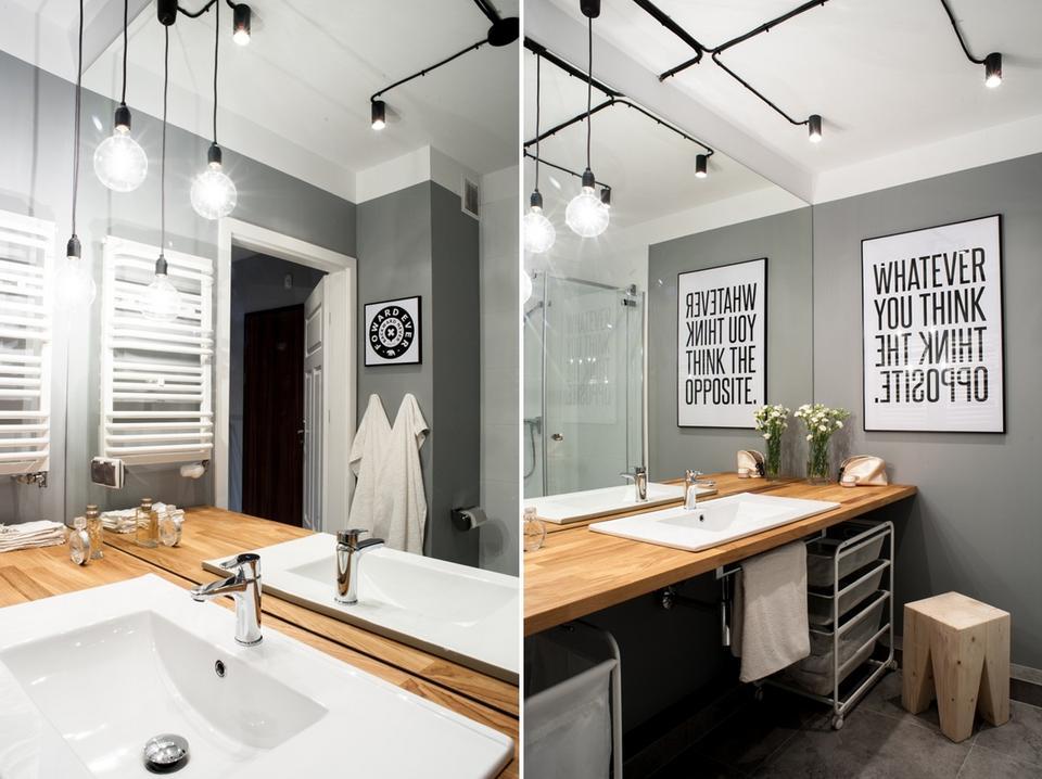 3. Oświetlenie umywalki. Projekt: Marta i Michał Raca