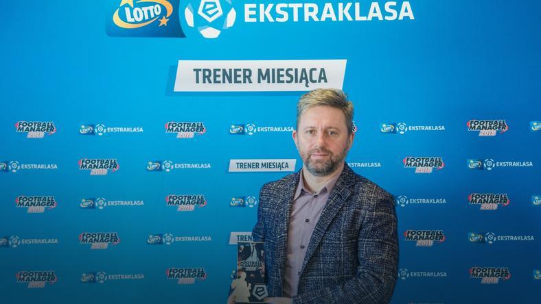 Jerzy Brzęczek trenerem grudnia w LOTTO Ekstraklasie