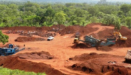 A bauxite concession at Nyinahin in Ghana