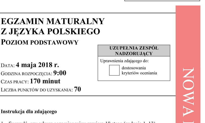 Matura 2018: Polski. Odpowiedzi i Arkusze CKE