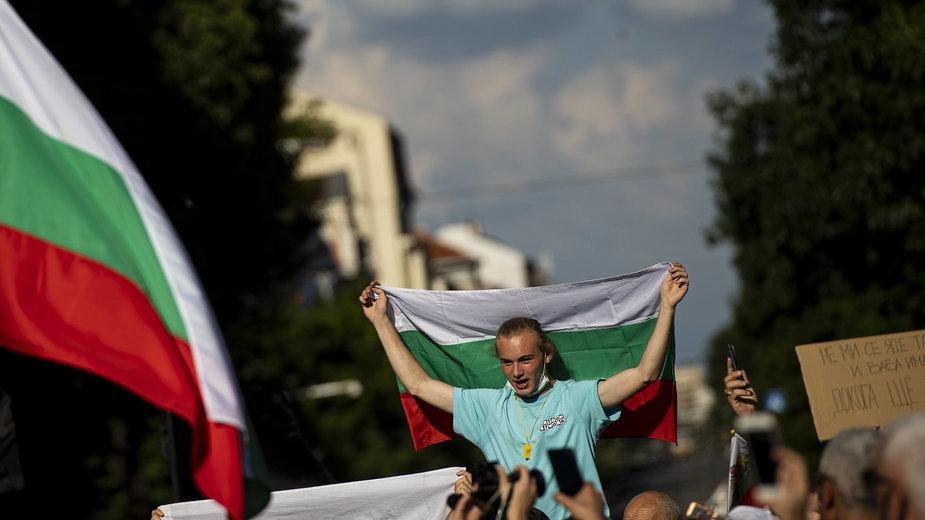 Demostracja antyrządowa w Sofii