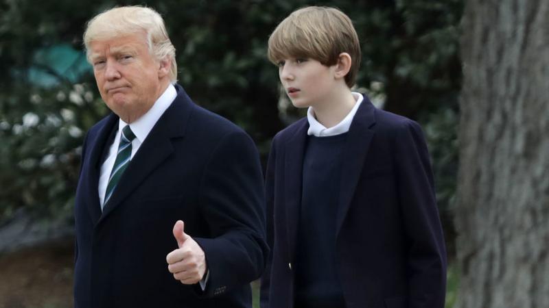 Donald Trump i jego syn Barron