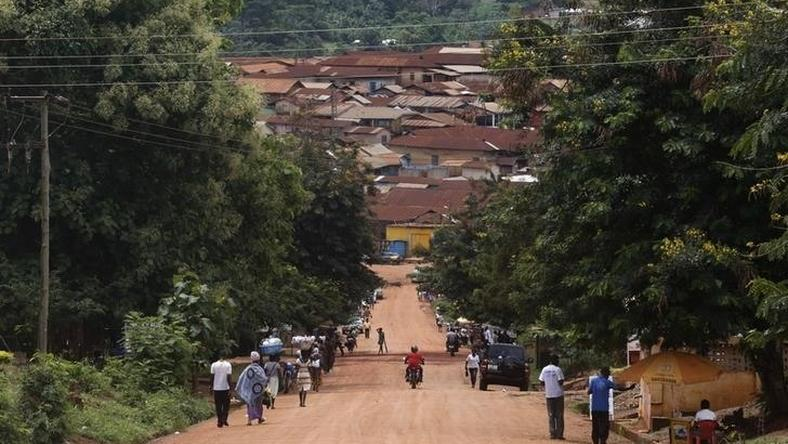 A general view of the town of Juaboso is seen in Ghana June 18, 2014. Picture taken June 18, 2014. REUTERS/ Thierry Gouegnon (GHANA - Tags: SOCIETY)