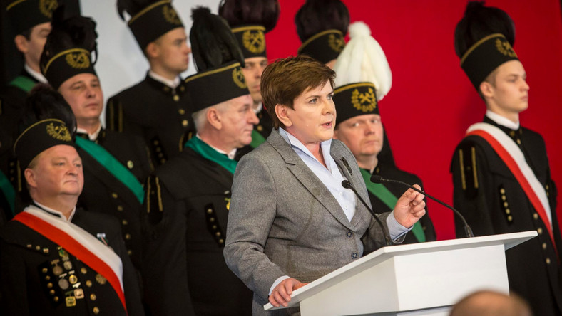 Beata Szydło i górnicy