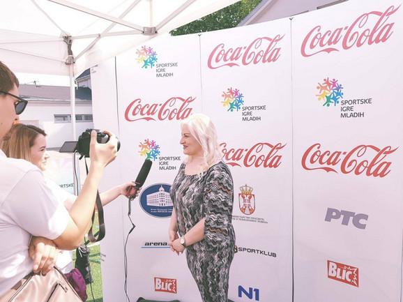 Ivana Jovanović, predsednica Sportskih igara mladih Srbije, u Požarevcu
