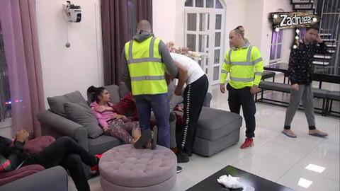 Vadimir Tomović urlao na Ramonu, a onda se zaletio ka njoj, obezbeđenje uletelo! VIDEO