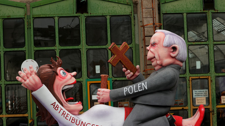 Jeden z motywów platformy karnawałowej w Duesseldorfie