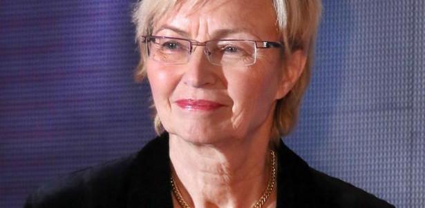 Profesor Lena Kolarska-Bobińska, minister nauki i szkolnictwa wyższego.