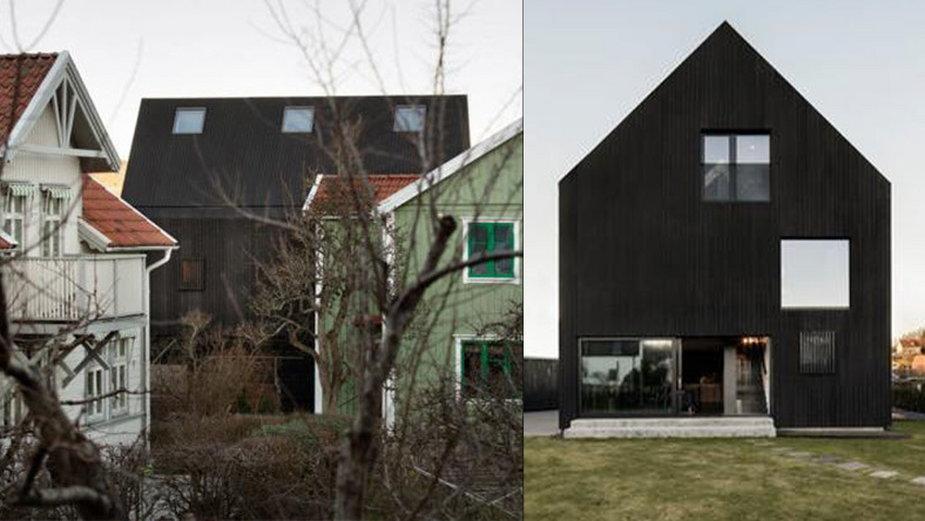 Dom typu: nowoczesna stodoła. Jest cały czarny!