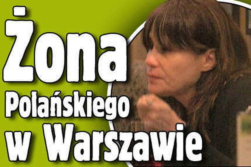 Żona Polańskiego w Warszawie!