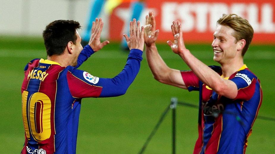 Radość po golu Leo Messiego