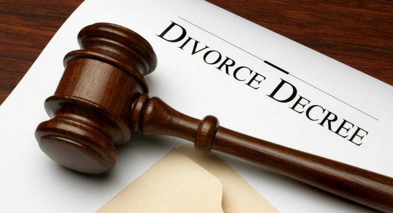An illustration of a divorce decree