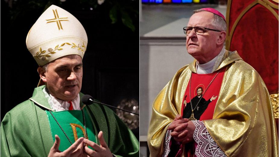Koronawirus. Biskupi Edward Dajczak (po prawej) i Krzysztof Włodarczyk (po lewej) zakażeni COVID-19