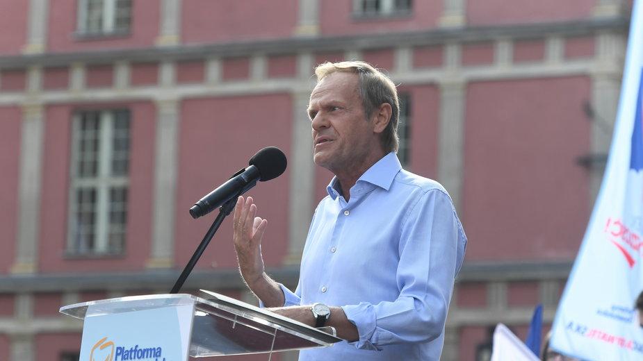 Donald Tusk w Gdańsku