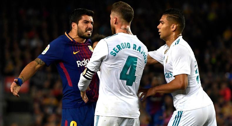 Tempers flare at El Clásico.