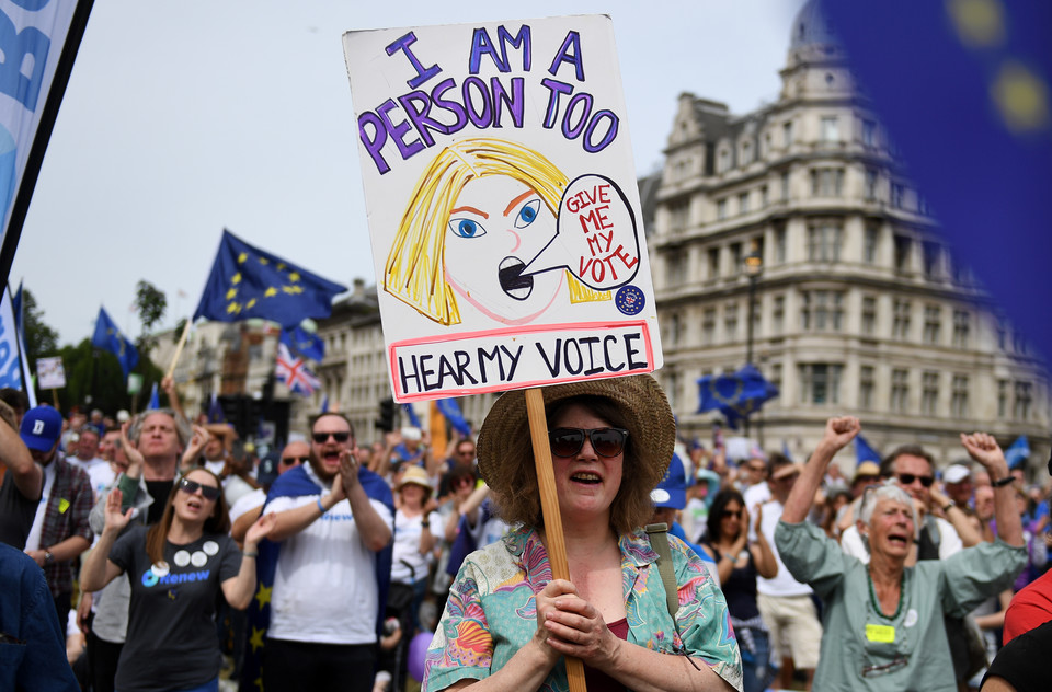 epa06833888 - BRITAIN BREXIT PEOPLES MARCH (People's March Against Brexit in London)