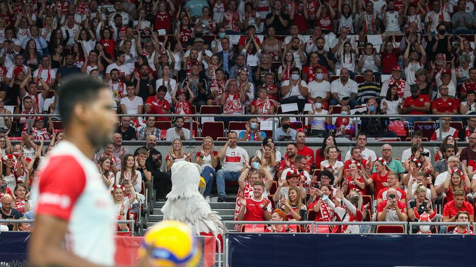 Polscy kibice podczas meczu Polska - Rosja