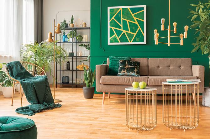 Zelena boja u svetlijoj nijansi idealna je za spavaću a u tamnijoj za dnevnu sobu