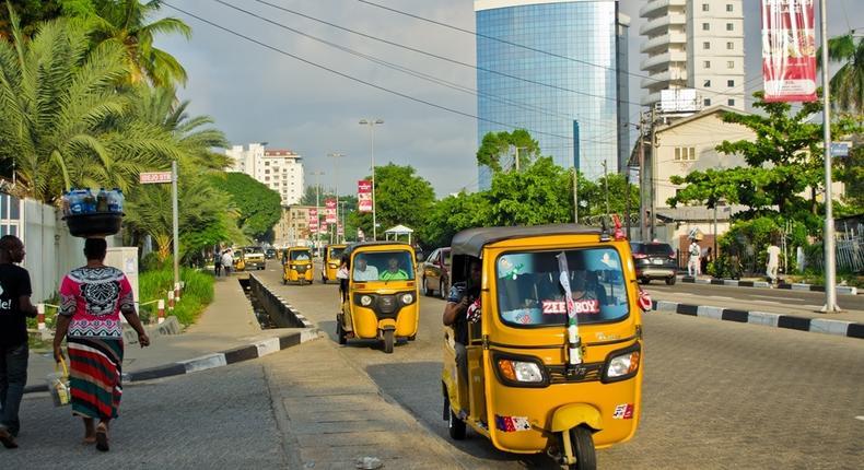 Image captured a Nigerian bank on Victoria Island, Lagos (Shutterstock)