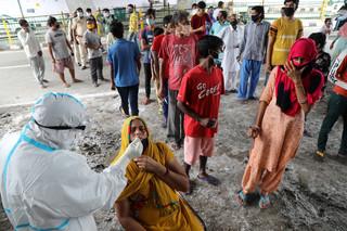 Od ośmiu dni po 60 tys. zakażeń na dobę. Indie trzecim najbardziej dotkniętym koronawirusem krajem świata