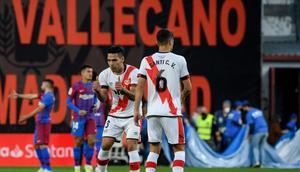 Senior service: Rayo Vallecano's Colombian forward Radamel Falcao on Wednesday Creator: OSCAR DEL POZO