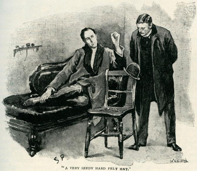 """Ilustracija priče """"Plavi granat"""" Artura Konana Dojla objavljene prvi put u magazinu """"Strand"""" 1892."""