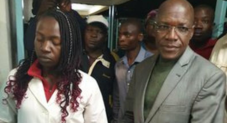 Politicians Dr Boni Khalwale at Kakamega hospital following school stampede