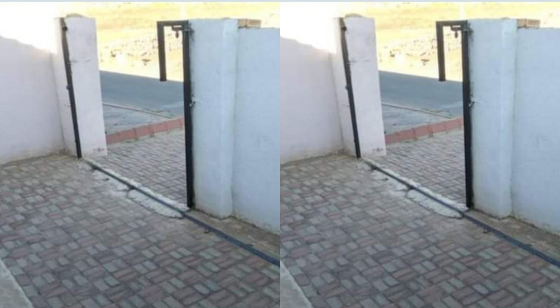 Family wakes up to realise the house gate is missing