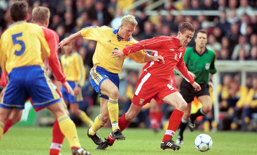 Pilka nozna. Eliminacje Me 2000. Szwecja - Polska - 2-0. 09.10.1999
