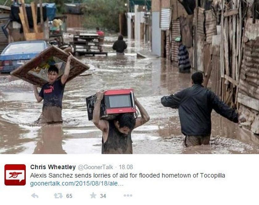 Gwiazdor pomaga powodzianom z jego miasta