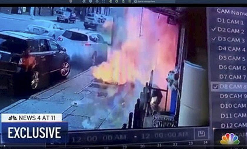Kula ognia z chodnika poparzyła przechodnia. Szedł zapłacić rachunki