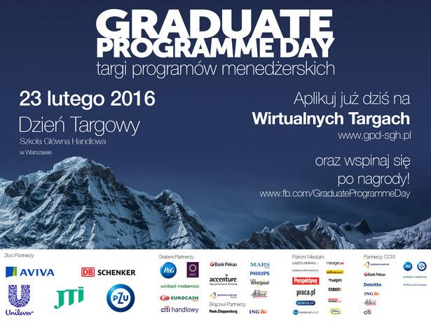 Odwiedź już teraz Wirtualne Targi Pracy Graduate Programme Day na gpd-sgh.pl i sprawdź, co oferuję 20 najlepszych firm z różnych branż.