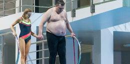 Rolnik stał bezradny na trampolinie. To Ciupa dodała mu odwagi
