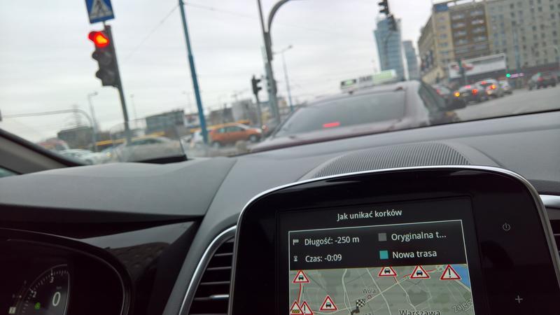 Informacje o korkach pochodzą m.in. z samochodów monitorowanych dla Inrix