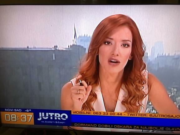 Jovana Joksimović u Jutarnjem programu