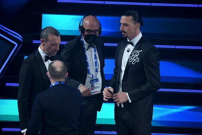 Ibrahimovića na sceni Sanrema pratio hit