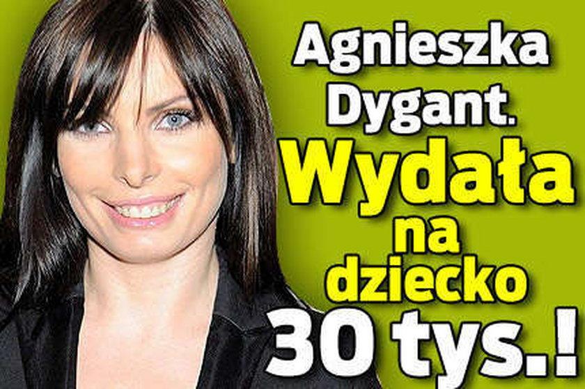 Dygant wydała na dziecko 30 tysięcy!