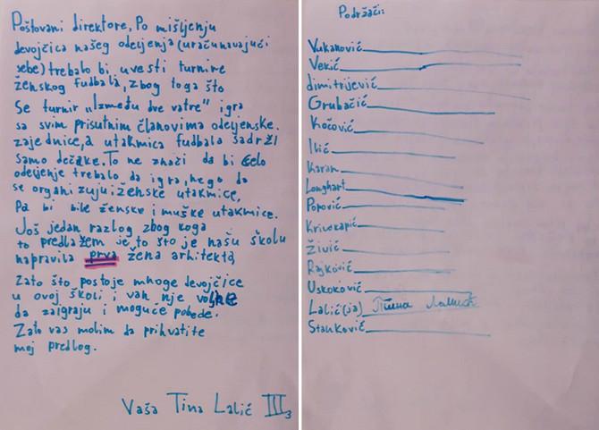 Devojčicino pismo direktoru