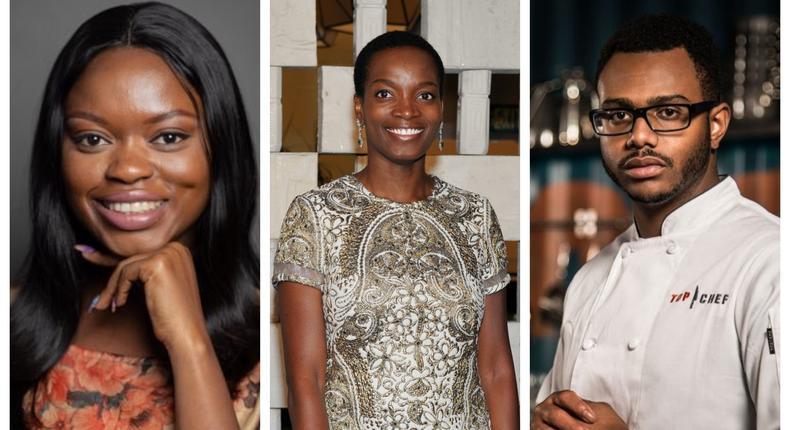 Njideka Akunyili Crosby, Oluwaseun Ayodeji Osowobi and Kwame Onwuachi are the Nigerians on this first-ever 'TIME 100 Next' list (BeFunky collage)