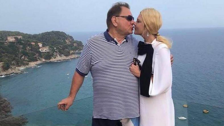 Ryszard Kalisz z żoną, Dominiką