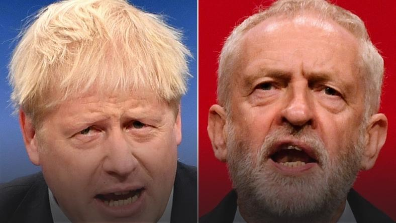 Prime Minister Boris Johnson (L) has compared his rival Jeremy Corbyn (R), leader of the Labour Party, to Stalin as Britain's election campaign formally gets underway