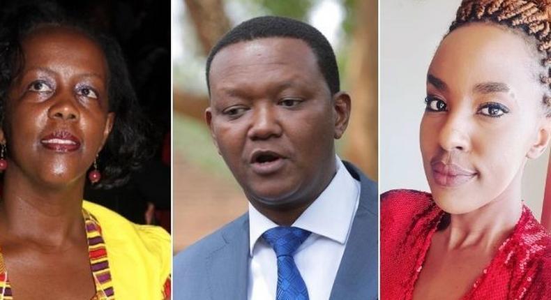 Josephine Thitu, Alfred Mutua and Lillian Ng'ang'a