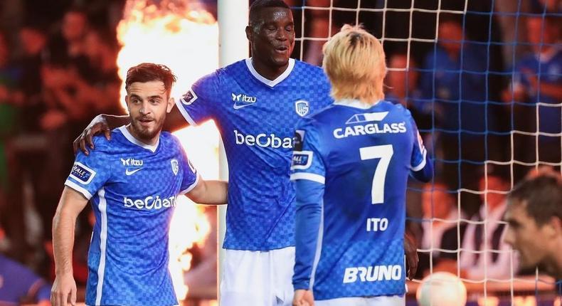 Paul Onuachu scored three goals in Genk's Sunday night win in the Belgian league (Instagram/Genk)