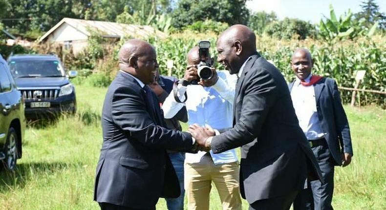 DP William Ruto with Nyeri Governor Mutahi Kahiga