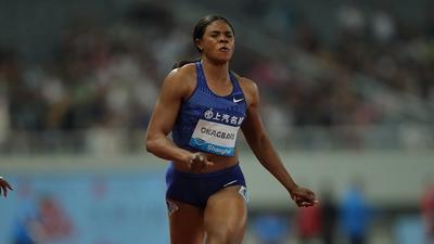 Nigerian sprinter Blessing Okagbare wins 100m race at Rabat Diamond League