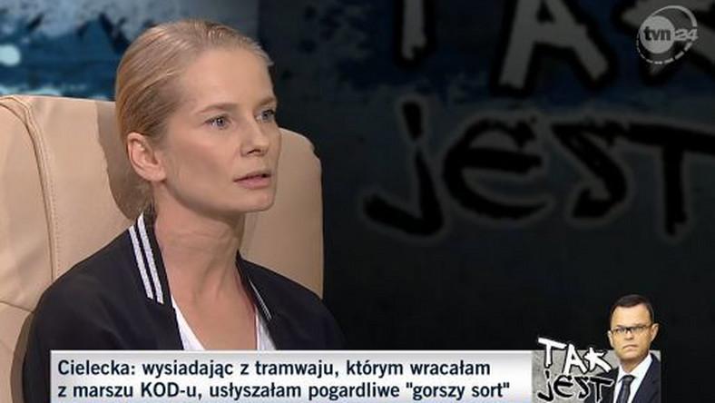 """Magdalena Cielecka w programie """"Tak jest"""""""