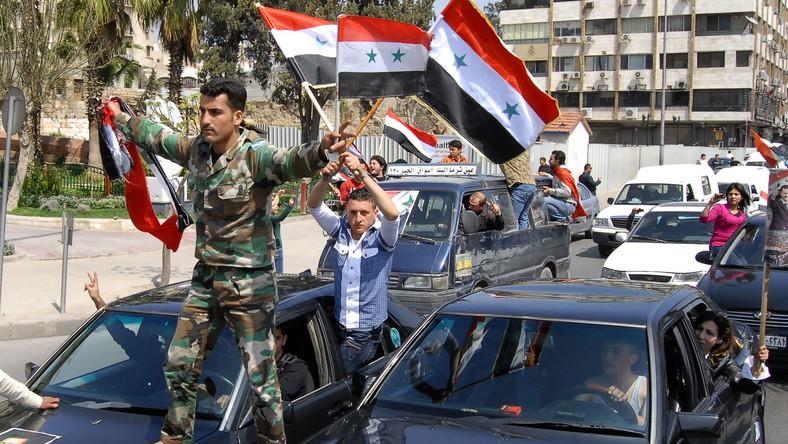 Prorządowa demonstracja w Syrii