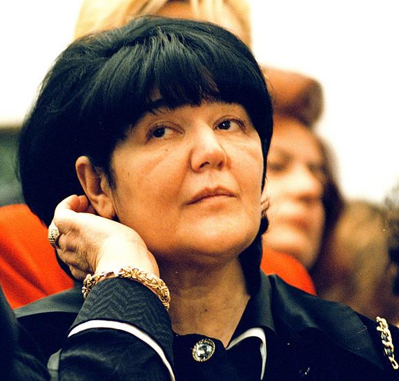 Mira Marković, supruga Slobodana Miloševića i predsednica Jugoslovebnske levice (JUL)