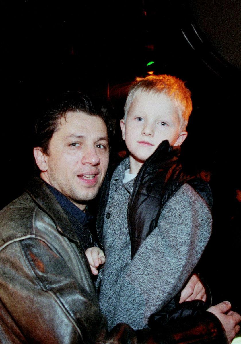 Janusz Józefowicz z synem Jakubem