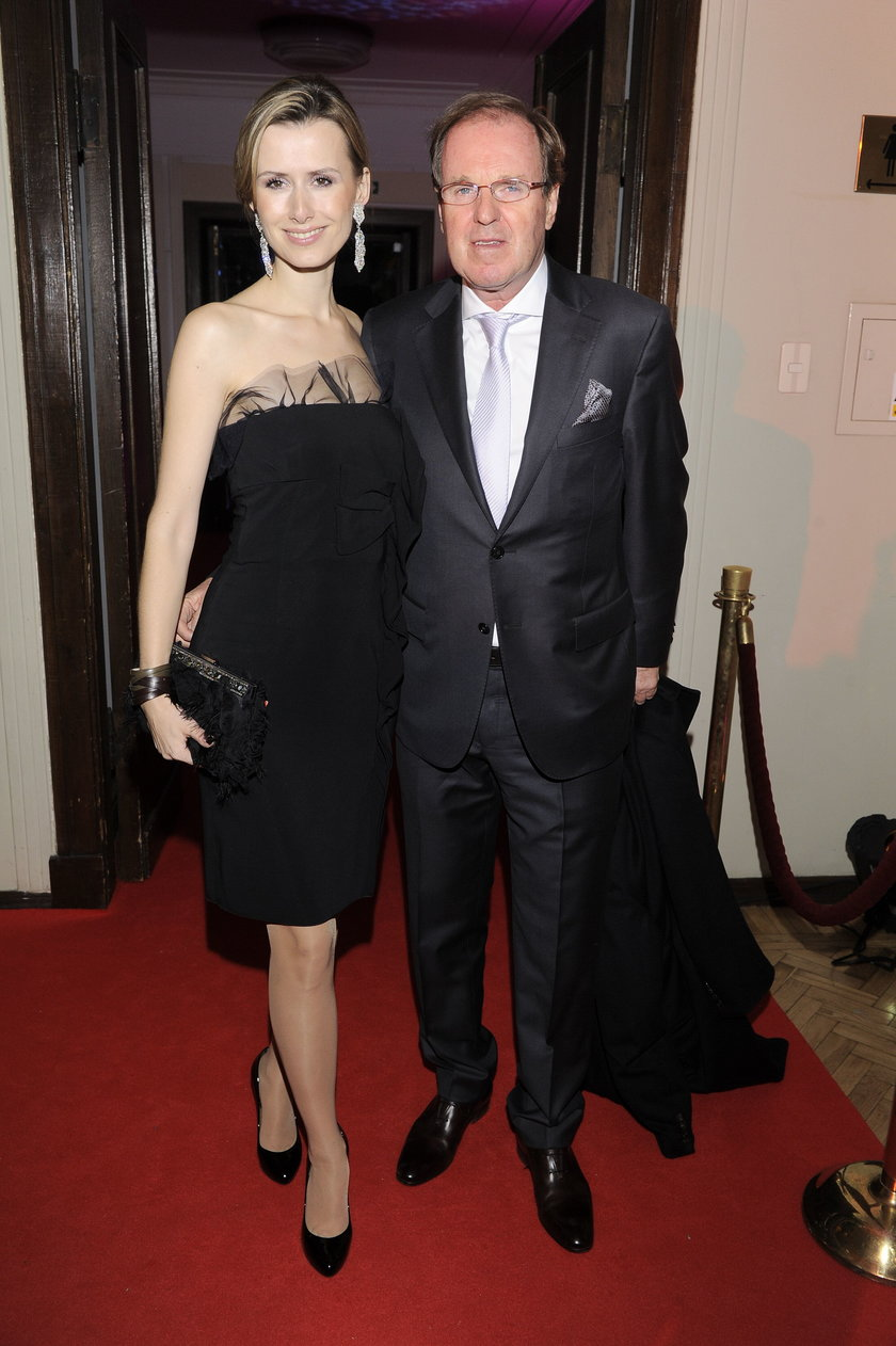 Wojciech Fibak z żoną